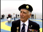 Veterans prepare to mark 60th Anniversary ENGLAND Portsmouth EXT Vox pops DDay veterans MS Coach driven along as transporting DDay veterans PAN...