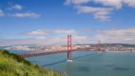 25 de Abril bridge in Lisbon, Portugal