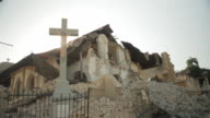 Debris of foundation at the bottom of a church destroyed by the Haiti earthquake of January 2010
