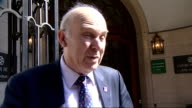 European ministers to meet for bailout talks ENGLAND London EXT Vince Cable MP interview SOT It is far too early to talk about specific numbers we...