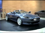 WS debut of Aston Martin DB9 'Volante' convertible revolving on turntable 2004 Aston Martin DB9 Volante convertible at Cobo Hall on January 14 2004...