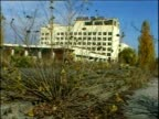 Decaying buildings abandoned since Chernobyl disaster Prypiat Ukraine