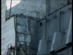 Decaying exterior and damaged parts of Chernobyl nuclear power station Ukraine 1990's