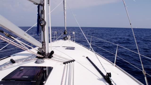 WS Deck Of A Sailboat