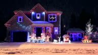 Decorated and illuminated House for Christmas