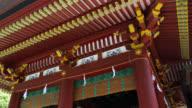 MS Decorated ceiling of ceremony hall at Tsurugaoka Hachimangu Shrine / Kamakura, Kanagawa, Japan