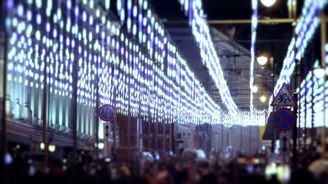 Versierde straat - New Year Eve