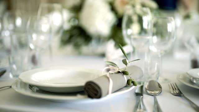 tabel ingericht voor een bruiloft diner