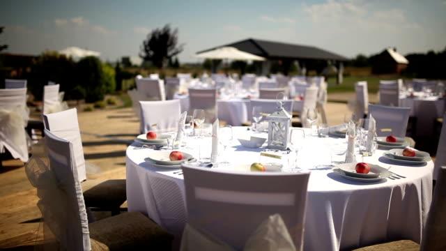 Matrimonio decorato tavolo