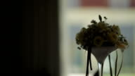 Decorated Wedding table - Stock Footage