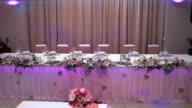 Dekoration der Tisch