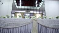 Decorazione di nozze di una tabella