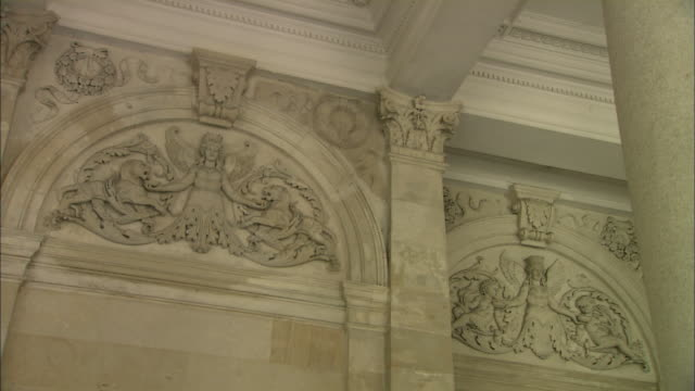 Decorative wall carvings of Mill Colonnade