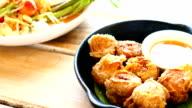 Deep fried crab roll