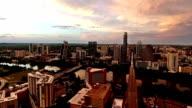 Deep Sunset Over Austin South Congress Side Pan