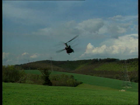 Chinook Crash Cover Up LIB North Yorkshire Near Ripon Chinook in flight pilots at controls in flight AIR TO AIR Chinook in flight