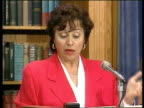 Forces morality may rob general of top job ITN Int Rep Nita Lowey speaking at mic Pentagon is employing double standard/some getting pat on back some...