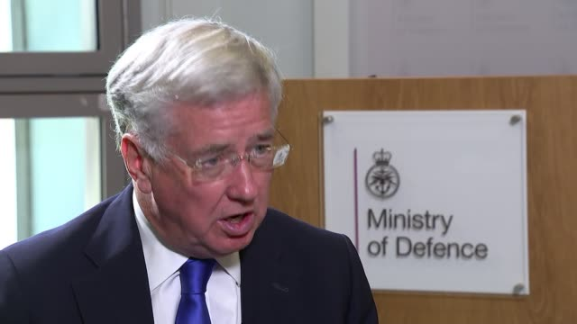 Defence Secretary Sir Michael Fallon talks of the British role in defeating Islamic State Ministry of Defence INT Fallon interview continues SOT