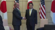 US Defense Secretary Ash Carter meets with Japan's Prime Minister Shinzo Abe in Tokyo