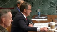 Defense Secretary Ashton Carter describes for the Defense Subcommittee of the Senate Appropriations Committee steps he had taken following on the...