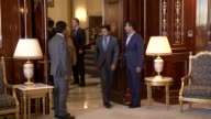 S Defense Secretary Ashton Carter meets with KRG President Masoud Barzani at Iraq Prime Ministry office in Arbil on July 24 2015 Footage by Emre...