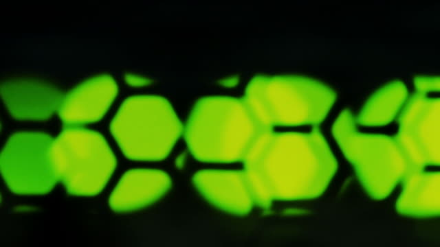 Defocus green lights on network server