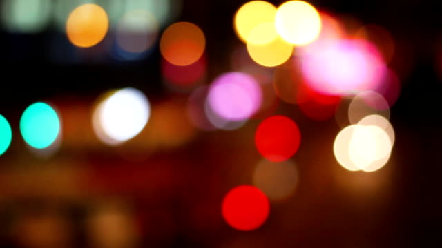 Defocus traffic timelapse