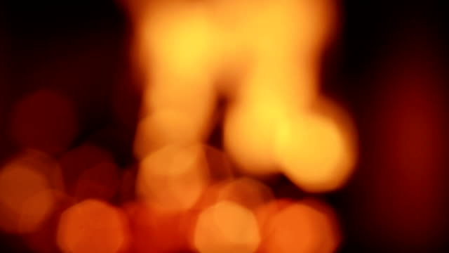 defocus wood fire