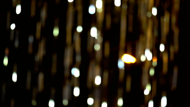 Defocused and blur image of gold led lights, abstract background