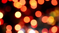 Defocused Christmas Red Light