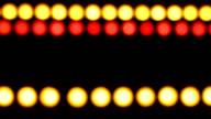 Defocused colored lights on  black background