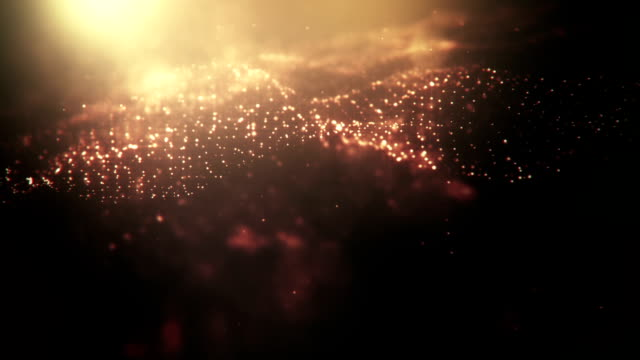 Defocused Gold Particles (Dark) - loopable