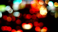 Defocused Image Of Traffic Lights In The Modern City.