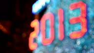 Sfocato nuovo anno 2013 celebrazione