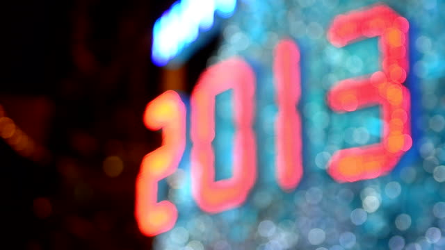 Defocused New Year 2013 Celebration