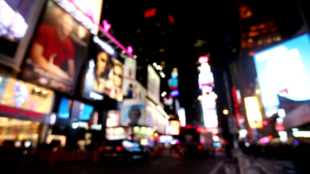 Defocused NYC Times Square City Lights