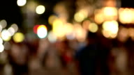 Defocused of Busy Traffic at Night