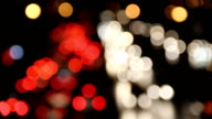Defocused of Car's light (Time lapse).