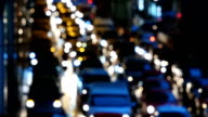 Defocused of traffic jam city