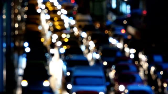 Defocused of traffic jam city
