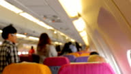 Defocused Passengers in Airplane.