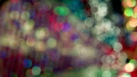 Defocused rotating lights abstract background