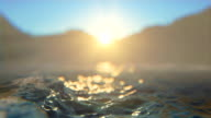 Defocused sea and sunrise