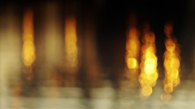 Defocused Shot of Port Lights