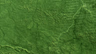 Deforestation, Brazil, 1975-2001. This series of Landsat satellite images shows the deforestation in the Rondonia region of Brazil over 26 years