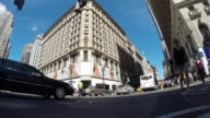 360 degree motion time lapse video of city streets and traffic in new york