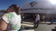 Degree Timelapse of crowds at the Palais des Festivals during the 64th Annual Film Festival on May 19 2015 in Cannes France