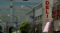 MS Deli sandwich shop and buildings in Modesto / California, United States