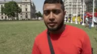 Delivery riders join motorcyclists in Parliament Square for demonstration following recent acid attacks