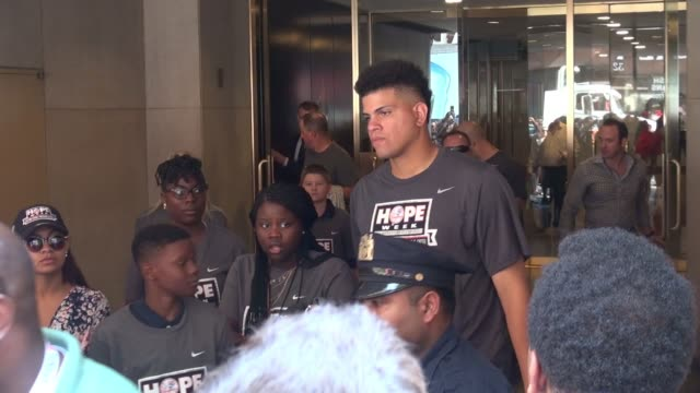 Dellin Betances leaving the 'TODAY' show in Celebrity Sightings in New York